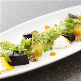 Maui Beet and Big Island Goat Cheese Salad